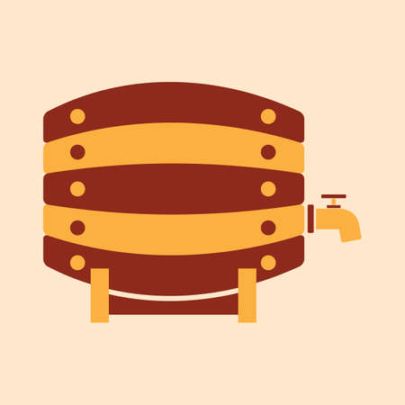 A beer barrel illustration. Banco de Imagens - 81420241