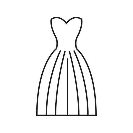 A wedding gown illustration. Illustration