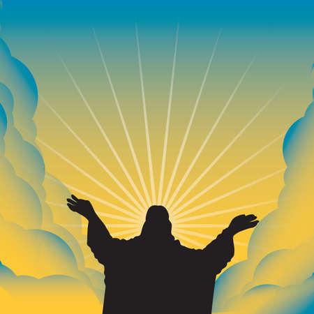 fondo de jesus Ilustración de vector
