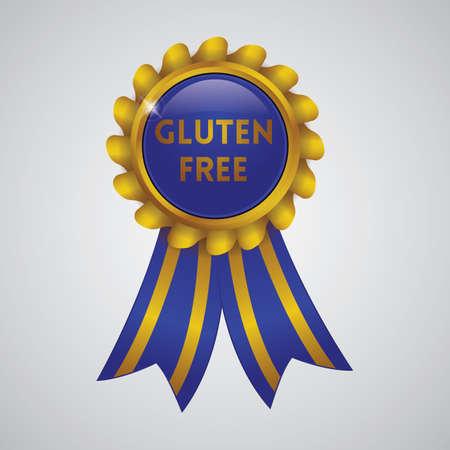 gluten free ribbon badge Illustration
