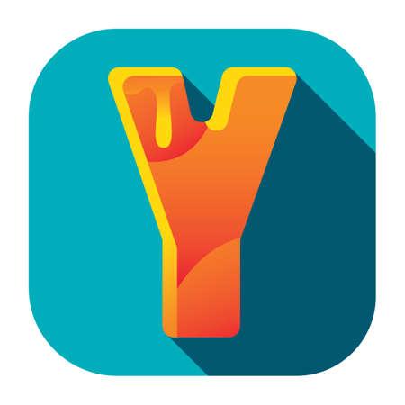 alphabet y Stock Illustratie