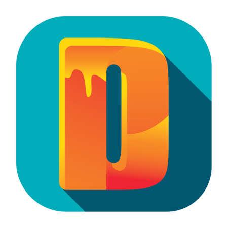 alphabet d Stock Illustratie