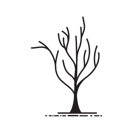 Een kale boomillustratie. Stock Illustratie