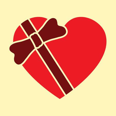 A valentine gift illustration. Ilustração