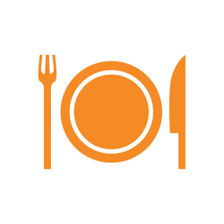 plaat met vork en mes