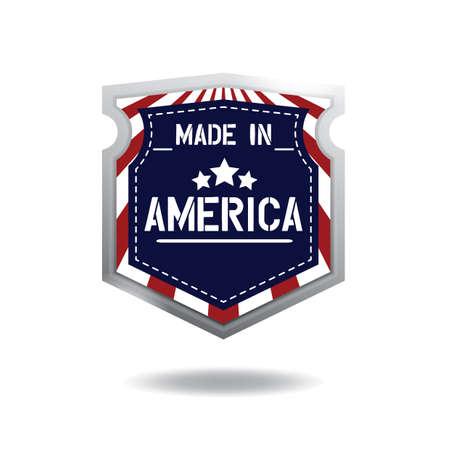 gemaakt in Amerika label