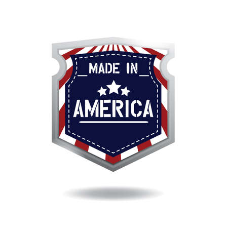 made in america label Ilustrace