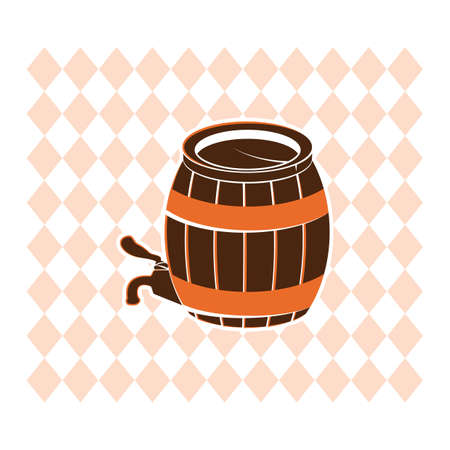 A wooden barrel with tap illustration.