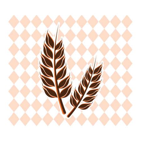 A wheat illustration. Ilustracja