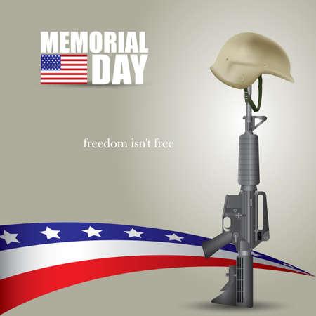 herdenkingsdag achtergrond Stock Illustratie