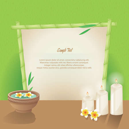 modèle sur le thème du spa