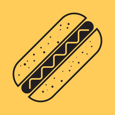 hot dog  イラスト・ベクター素材