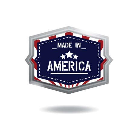 made in america label Ilustração