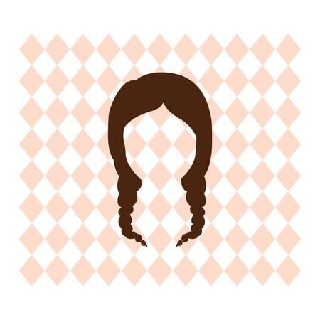 A bavarian girl illustration.