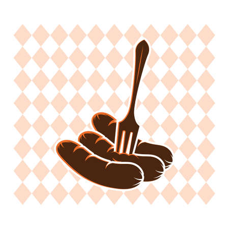 A sausage with fork illustration.