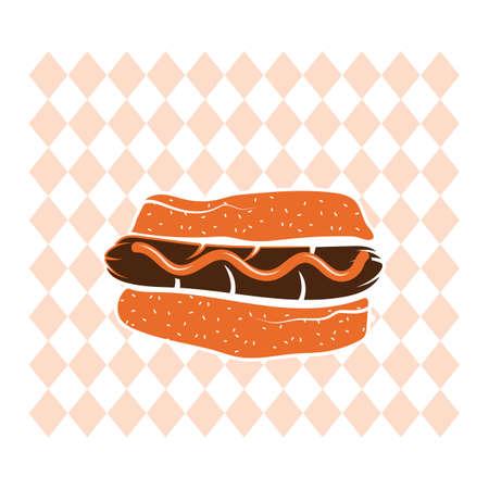 junkfood: A hot dog illustration.