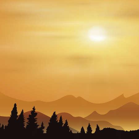 日の出背景
