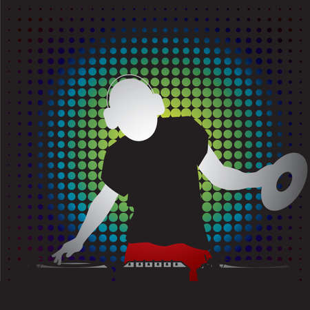 A dj illustration.