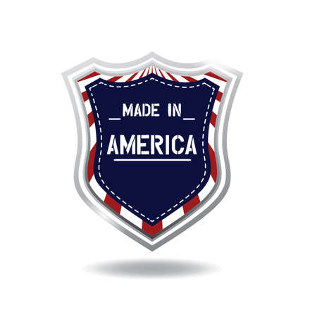 made in america label Ilustracja