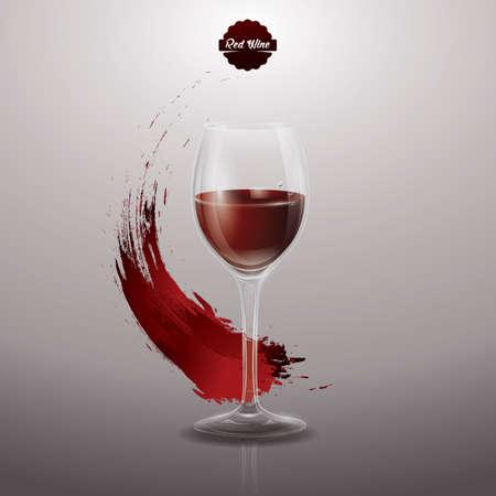 rode wijn poster