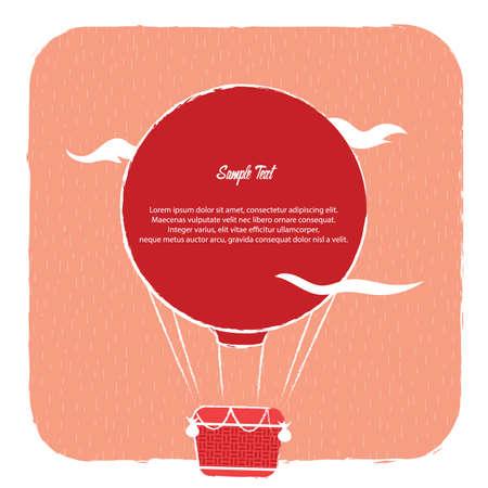 Una ilustración del fondo del globo del aire caliente. Foto de archivo - 81420274