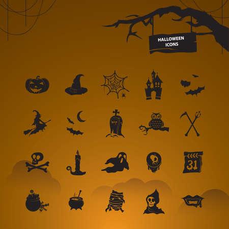 Halloween icons Çizim