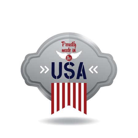 A USA label illustration.
