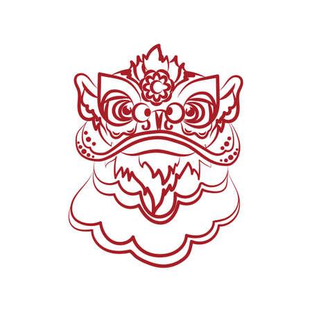 Tête de danse du lion Banque d'images - 81470347