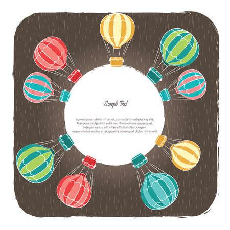 A hot air balloon background illustration. Ilustracja