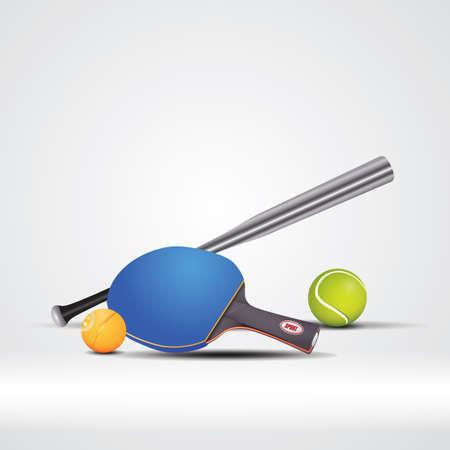 Vector illustration of sports equipment