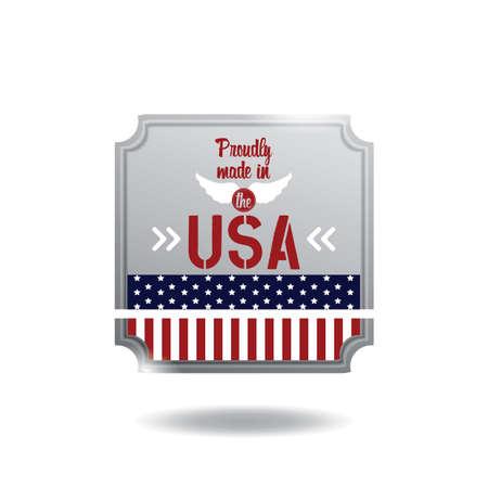 Une illustration d'étiquette USA. Banque d'images - 81420286