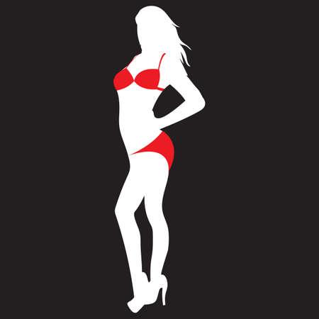 woman in bikini Ilustrace