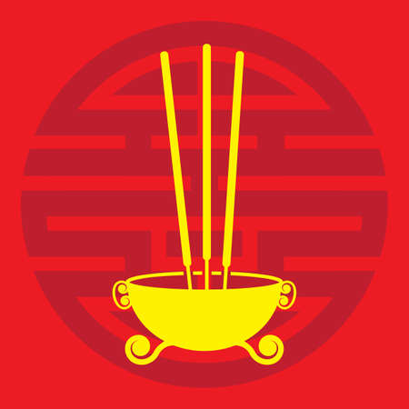A joss sticks illustration.