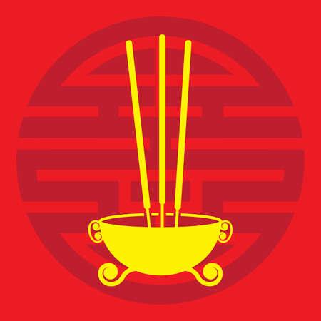 A joss sticks illustration.