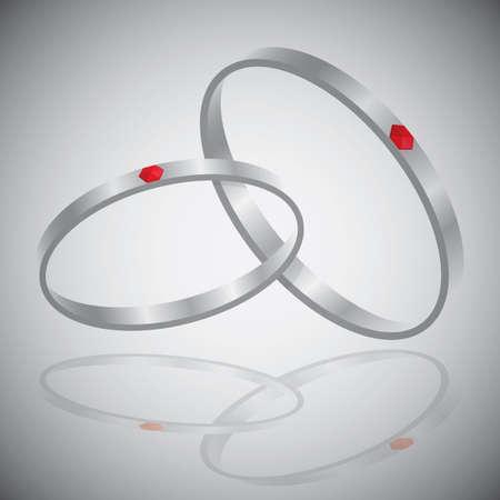 diamond rings Illustration
