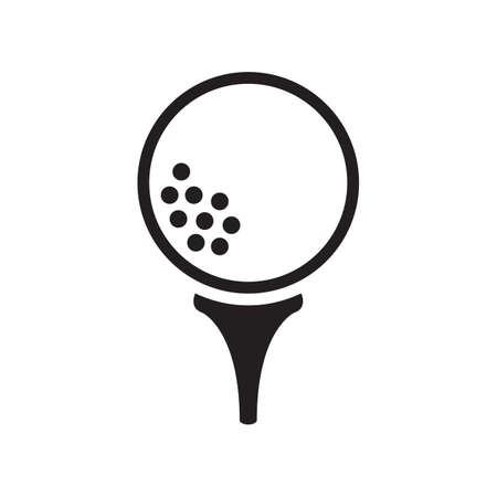 balle de golf sur tee Vecteurs