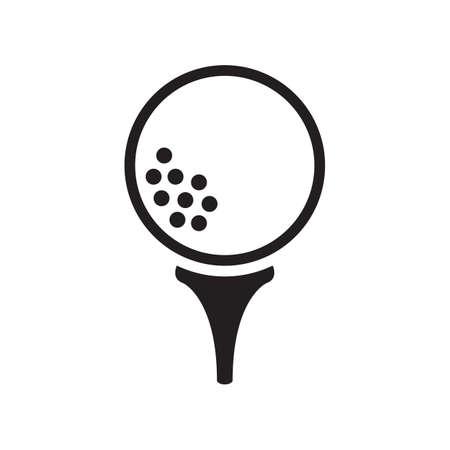 pelota de golf en tee Ilustración de vector