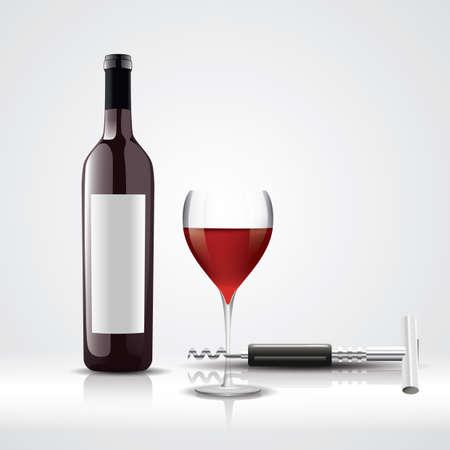 wijncollectie Stock Illustratie