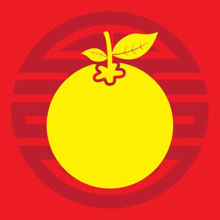 Een mandarijn oranje illustratie.