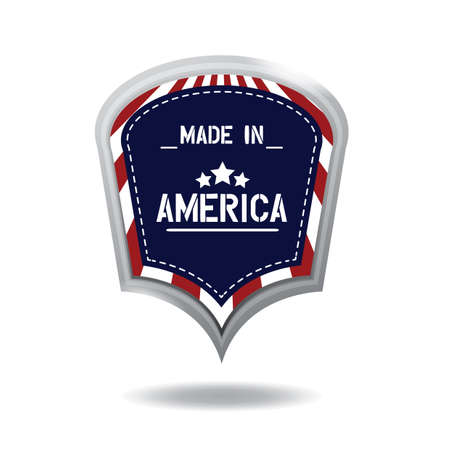 made in america label Illustration