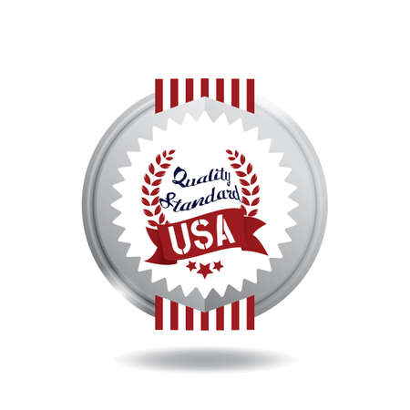 Illustration d'étiquette USA. Banque d'images - 81420302