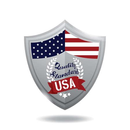 Illustration d'étiquette USA. Banque d'images - 81420303