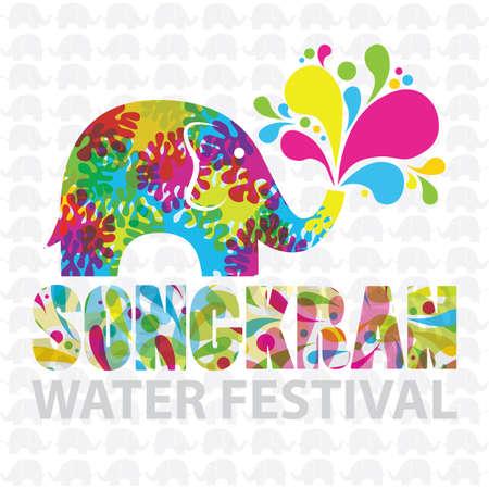 A songkran water festival vector illustration.