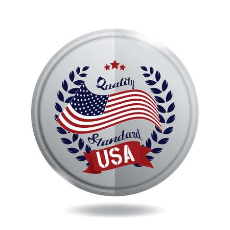 USA label illustratie.