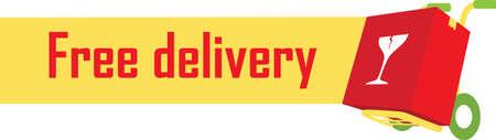 free delivery label Фото со стока - 106671905