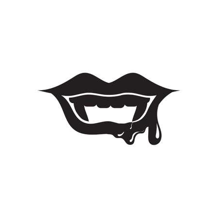 Lippen met bloed Stock Illustratie