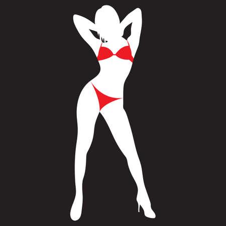 woman in bikini Illustration