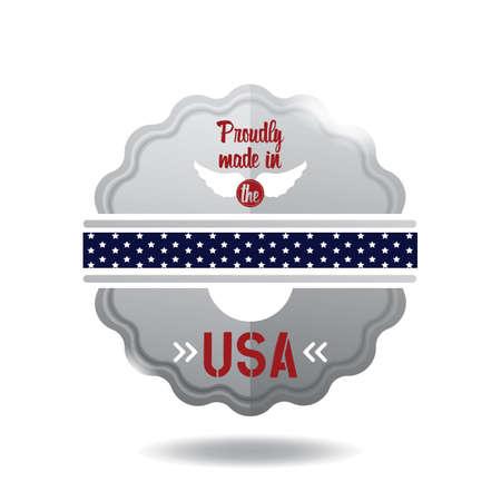 Illustration d'étiquette USA. Banque d'images - 81420307
