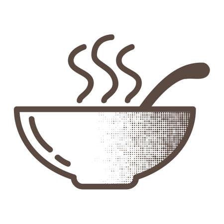 Bowl of soup Illustration