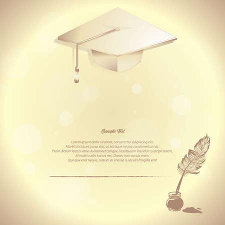 graduation hat poster